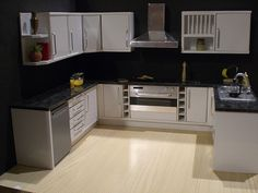 white gloss 1/12th scale kitchen by ELF Mins, via Flickr