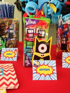Fun treats at a Despicable Me party!  See more party ideas at CatchMyParty.com!