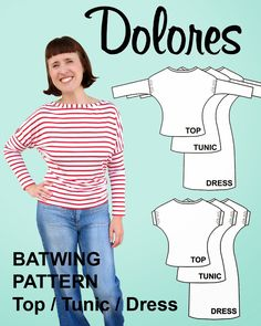 Introducing The Dolores Batwing Pattern! PLUS: Review Copies Giveaway