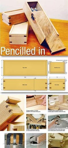 Wooden Pencil Case Plans - Woodworking Plans and Projects | WoodArchivist.com #WoodworkingPlans