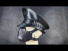 Leather Officer hat and Mask