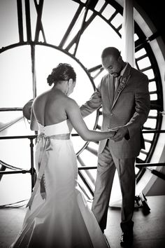 First Look- Clock Tower Denver, Colorado. Photography by: Caroline Pippin