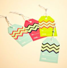Ruff Draft: Our Gift to You! Free Printable Chevron Gift Tags : Anders Ruff Custom Designs :