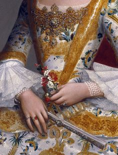 This Ivy House — jaded-mandarin: Miguel Cabrera. Detail from. Fashion History, Fashion Art, Womens Fashion, Historical Costume, Historical Clothing, Classical Art, Detail Art, Bustier, Renaissance Art