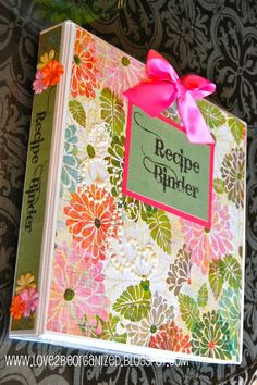 I've been creating one on my computer- gonna have to decorate it like this recipe binder