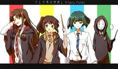 Spirited Away - Ogino Chihiro, Haku, Lin, no face Harry Potter crossover! Studio Ghibli Art, Studio Ghibli Movies, Studio Ghibli Characters, Anime Characters, Hayao Miyazaki, Totoro, Spirited Away Movie, Personajes Studio Ghibli, Chihiro Y Haku