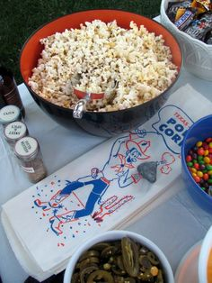 Popcorn bar before m