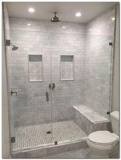 ideas for master bathroom remodel shower tile benches Master Bathroom Shower, Bathroom Layout, Bathroom Interior, Small Bathroom, Bathroom Ideas, Basement Bathroom, Bathroom Remodeling, Bathroom Showers, Diy Shower
