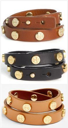 Double wrap stud bracelets by tory burch