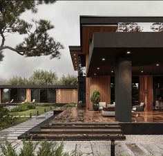 Dream House Interior, Luxury Homes Dream Houses, Dream Home Design, Glam House, Modern House Facades, House Front Design, Zen House Design, Villa Design, Design Art