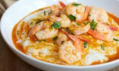 Recipe for healthy Shrimp and Grits.