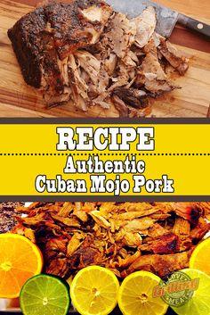 Cuban Mojo Pork Recipe (Authentic Cuban Style Pork Butts) - The Best Cuban Recipes Cuban Pork Roast, Pork Roast Recipes, Pulled Pork Recipes, Cuban Recipes, Pork Ribs, Roast Brisket, Game Recipes, Beef Tenderloin, Smoker Recipes