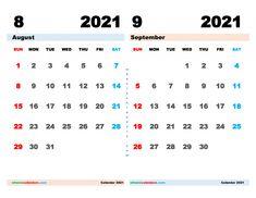 Free August September 2021 Calendar Printable PDF Free Calendar, Calendar Printable, 2021 Calendar, September, Pdf, Printables, Words, Print Templates, Horse