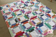 Jelly Roll Quilt....simple design, great look!