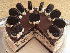 Oreo torta kávés krémmel