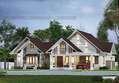 CREO HOMES is Kochi's top leading architects in Kerala with the best team of professional interior and architecture designers who understand the client's needs and aspirations. We aim to provide aesthetically appealing interior designs and architects. Kerala Architecture, Modern Architecture, Bungalow House Design, Modern House Design, House Design Pictures, Kerala House Design, Kerala Houses, Interior Work, Luxury House Plans