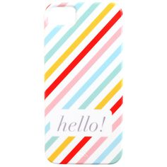 Neapolitan Stripe Hello! iPhone Case. These colors are precious :)