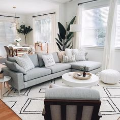 51 brilliant solution small apartment living room decor ideas and remodel 37 Living Room Interior, Home Living Room, Interior Design Living Room, Living Room Furniture, Living Room Designs, Gray Couch Living Room, Scandinavian Interior Living Room, Furniture Plans, Kids Furniture