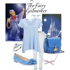 """Disney's fairy Godmother inspired outfit"" by Abby Heston"