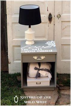 DIY Furniture  : DIY Nightstand Makeover