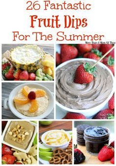 I love to have things on hand to make simple fruit dips, either made with fruit or to dip a variety of fruit in. It makes eating fruit more fun, doesn't it?