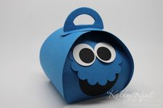 Cookie Monster Curvy Keepsake Box - Kelly Kent mypapercraftjourney.com