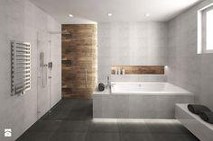 Łazienka w drewnie i betonie - zdjęcie od KRY_