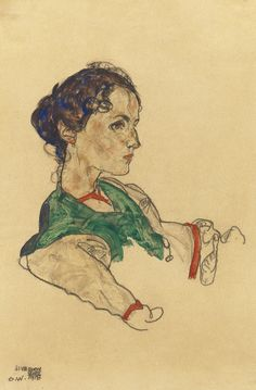 Schiele, Egon (1890-1918) - Portrait of the Artist Silvia Koller , 1918