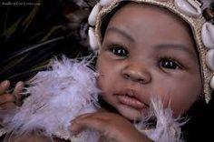Resultado de imagem para bebe reborn negra