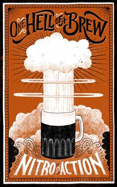 One Hell of a Brew poster for by Brooklyn  based illustrator and typographer Mary Kate McDevitt