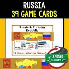 Geography Russia and Eurasia 39 I Have Who Has Game Cards World Geography Games, Geography Test, Geography Lessons, Secondary Resources, Social Studies Resources, Earth Science, Life Science, Game Cards, Card Games