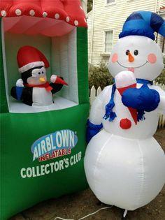 Gemmy Frosty the Snowman 10 Ft Tall Airblown Illuminated ...