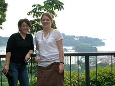 Teresa and Ghetto Mr. Hunter were on a business trip, and while they were in Singapore, the elegant Sharon showed them around.  Here they are enjoying the views from Mount Faber Park.    Singapore