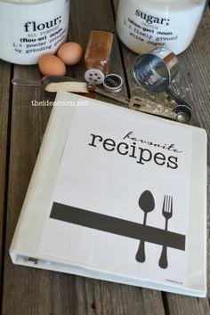 DIY recipe book notebook for Mom