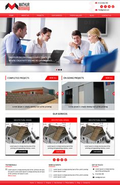 Engineering consultation company website design and developed as content management...