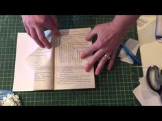 Book folding fairy house pattern tutorial - YouTube