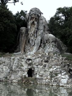 The Apennine Colossus, or Appennino, was created by legendary Italian sculptor Giambologna (1529 - 1608)