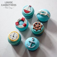 Cupcakes - We Are Sailing (Crumbs & Corkscrews) Tags: birthday blue wheel cake design boat cupcakes ship yacht cotswolds knot gloucestershire ring celebration anchor compass lifesaver cirencester cirencestercupcakes louisecarruthers vision:outdoor=0503