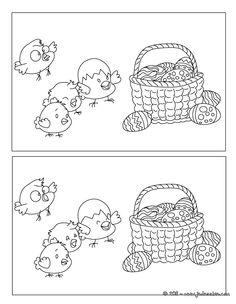 Panier de Pâques jeu des différences