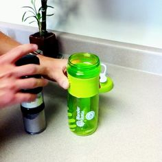 See how the #BlenderBottle GoStak fits perfectly inside the 28 oz. SportMixer for compact traveling.