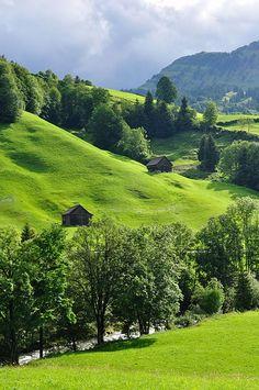 In Nesslau, St. Gallen, Switzerland.
