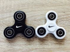 Tri Hand Fidget Spinner Toy w/ Nike Pink Yellow Red Black