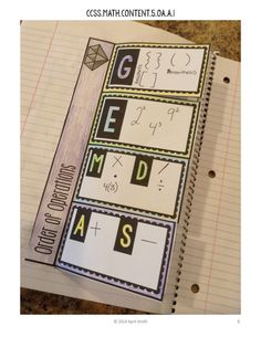 Order of Operations Interactive Notebook Page GEMDAS - Includes little gem problems for practice! $