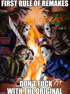 Cant beat the originals Horror Movies Funny, Horror Movie Characters, Classic Horror Movies, Horror Movie Posters, Scary Movies, Arte Horror, Horror Art, Horror Pictures, Horror Icons