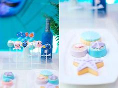 Cake pops, coated Oreos and cookies from a Finding Dory Under the Sea Birthday Party on Kara's Party Ideas | KarasPartyIdeas.com (18)
