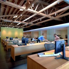 939 Chicago Avenue · Thomas Shafer Architects Wood Truss, Offices, Architects, Chicago, Interiors, Spaces, Projects, Furniture, Design