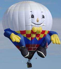 [2013 Balloon] Welcome pilot Richard Lawhorn of Louisville Kentucky as he brings  one of our favorite nursery rhyme characters, Humpty Dumpty, to life in the Albuquerque skies this fall!  www.balloonfiesta.com