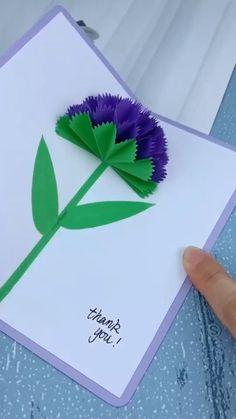 Paper Flowers Craft, Diy Crafts For Gifts, Paper Crafts Origami, Paper Crafts For Kids, Diy Arts And Crafts, Paper Craft Work, Diy Crafts Love, Amazing Crafts, Diy Crafts Hacks
