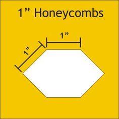 Honeycomb Paper Pieces 1''
