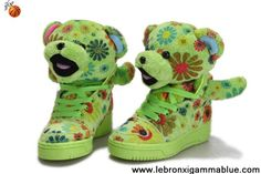 New Kids Adidas X Jeremy Scott Power Flower Bear Shoes Your Best Choice